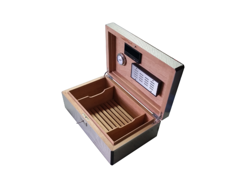 Humidor Carbon Lacquered Box