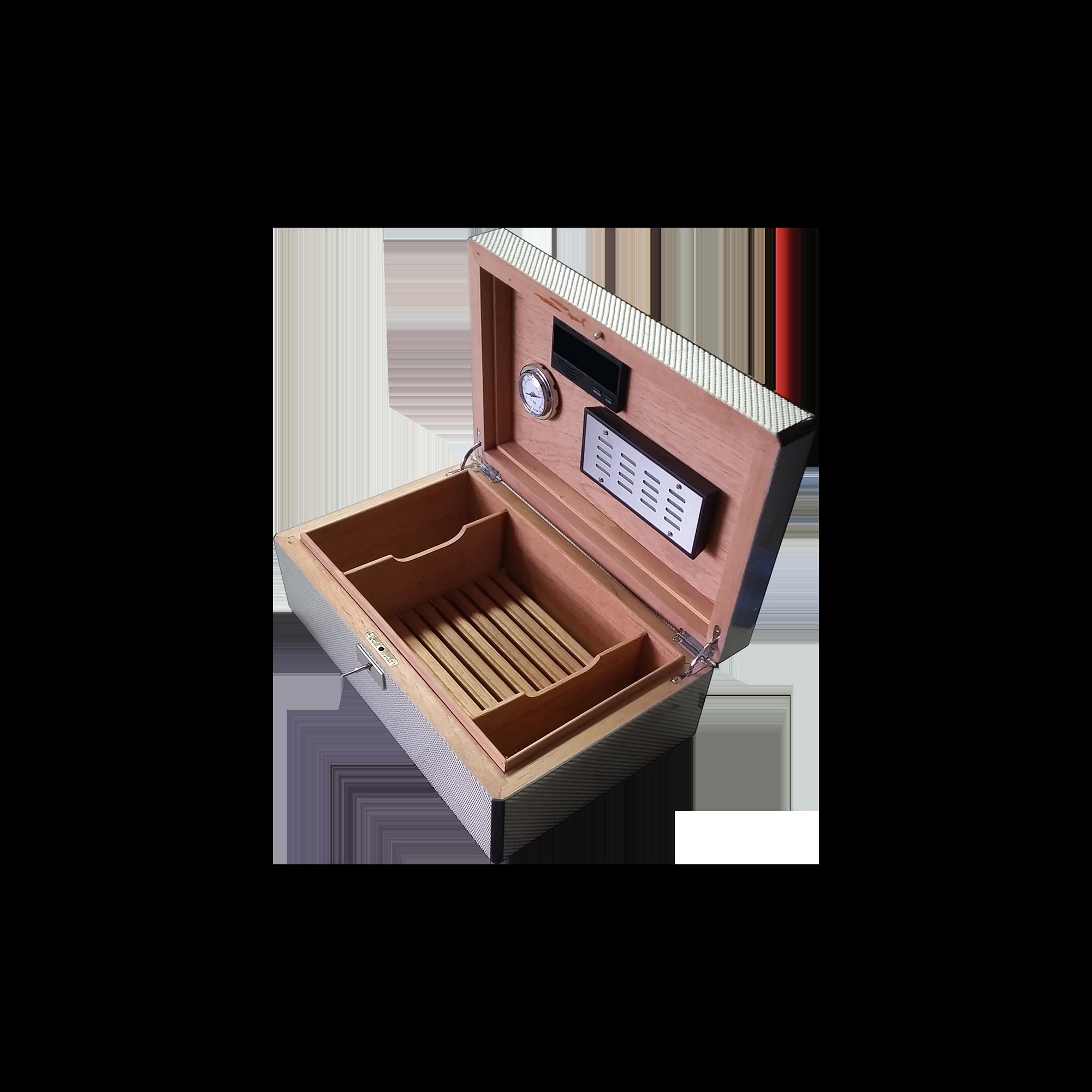 Humidor personalizzato per sigari laccato lucido