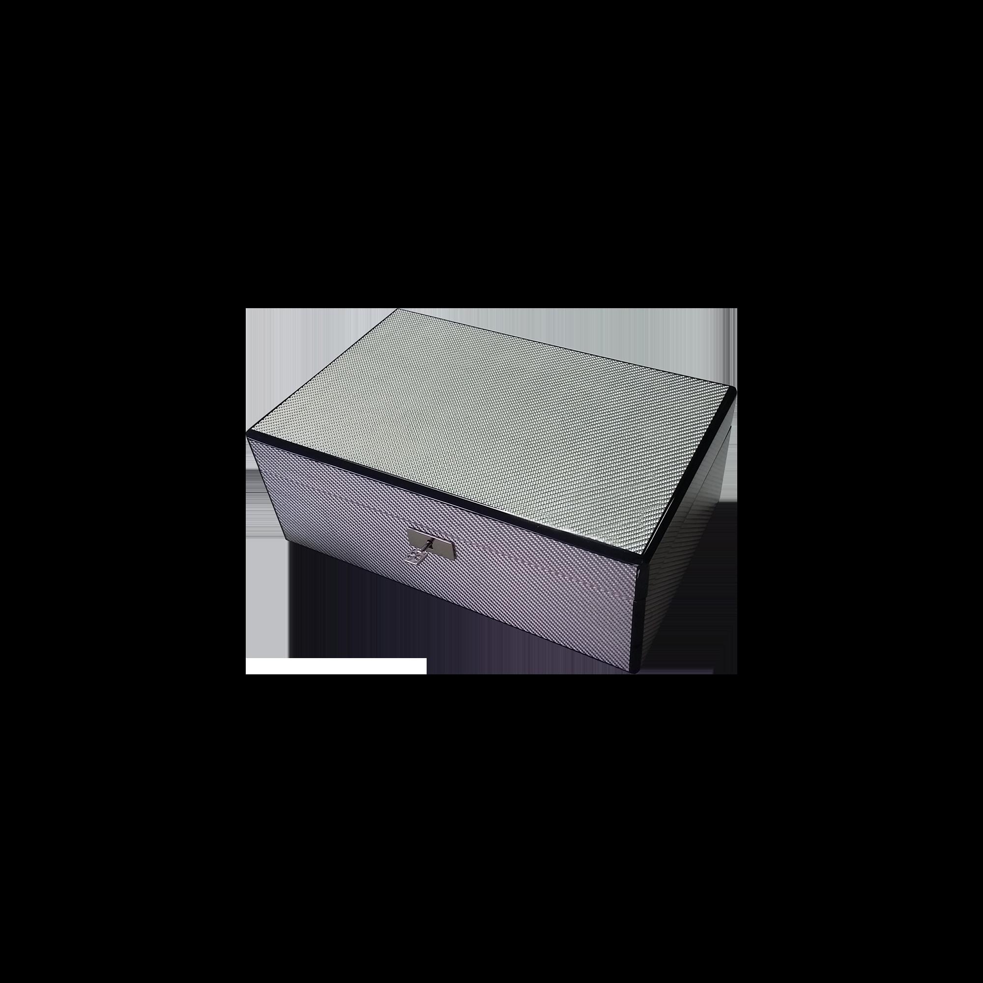 Humidor personalizzato per sigari laccato lucido carbonio