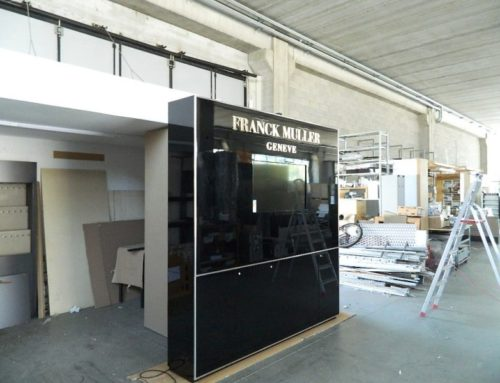 Black Lacquered Furniture with LCD screen