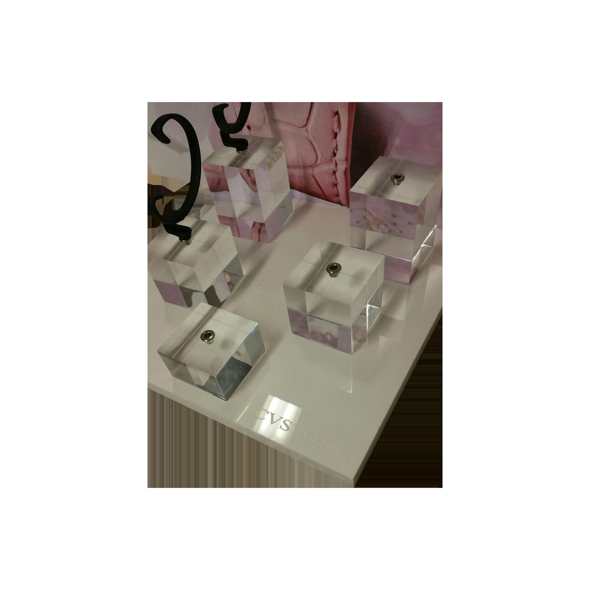 Espositore personalizzato per orologi in acrilico