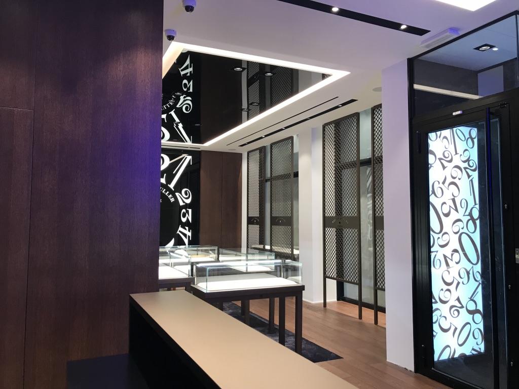 Interno Boutique Franck Muller a Bruxelles